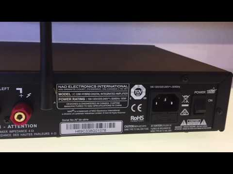 NAD C338 Integrated Amplifier with Spotify, Bluetooth