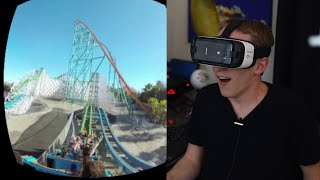 gear vr galaxy s7 riding roller coasters six flags