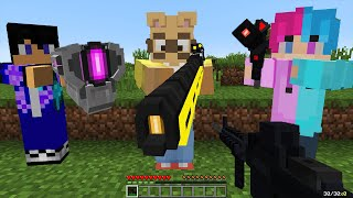 Minecraft Manhunt Vs 3 Hunters with Guns REMATCH