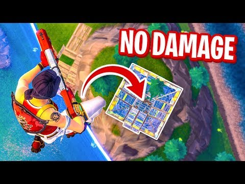 Surviving MAX FALL DAMAGE w/ PORT-A-FORT in Fortnite