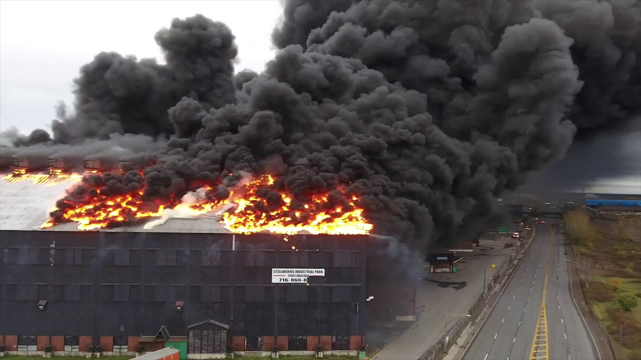 Bethlehem Steel Plant Burns Down In Lackawanna Youtube