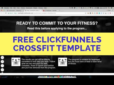 ClickFunnels CrossFit Funnel Template - Free & Converts Well!