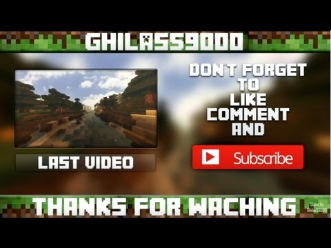 Free minecraft outro template youtube for Minecraft outro template movie maker