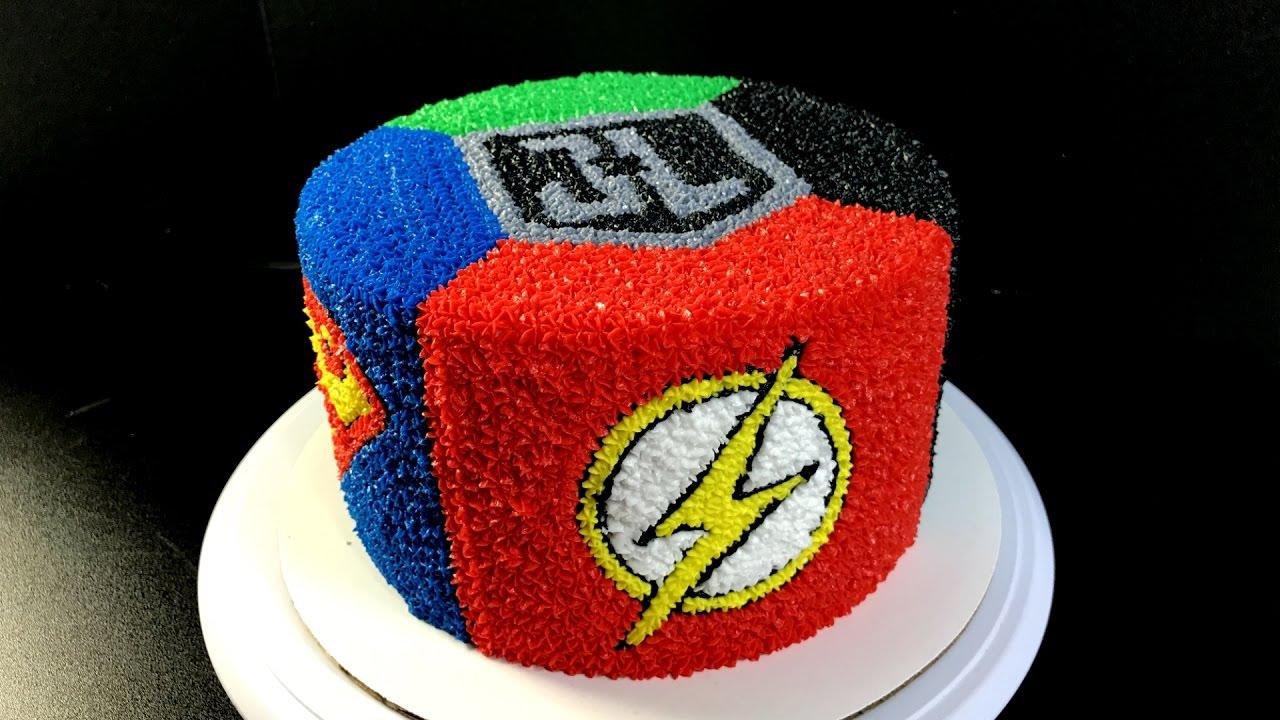 Justice League Buttercream Cake - (Batman, The Flash, Superman ...