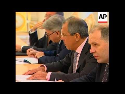 Mottaki and Lavrov photo op