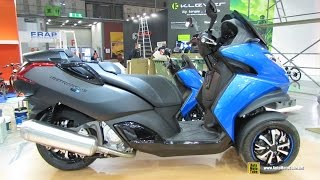 2015 Peugeot Metropolis 400 Blue Line - Walkaround - 2014 EICMA Milan Motorcycle Exhibition