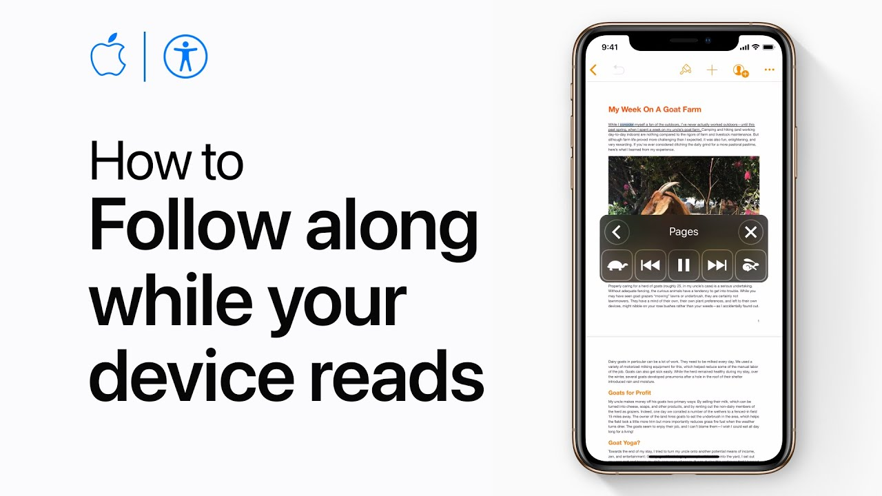 How to have your iPhone or iPad highlight text as it reads your screen — Apple Support - YouTube