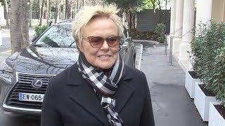 Muriel Robin arrives at Vivement Dimanche in Paris