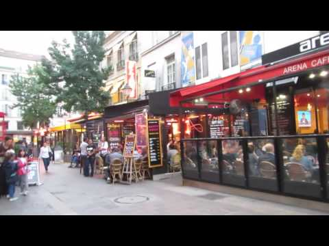Bar/Cafe district in Paris, France Sep 2016