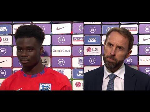 England (4)vs (0) Andorra Bukayo Saka Birthday goal Lingard Post Match Interview