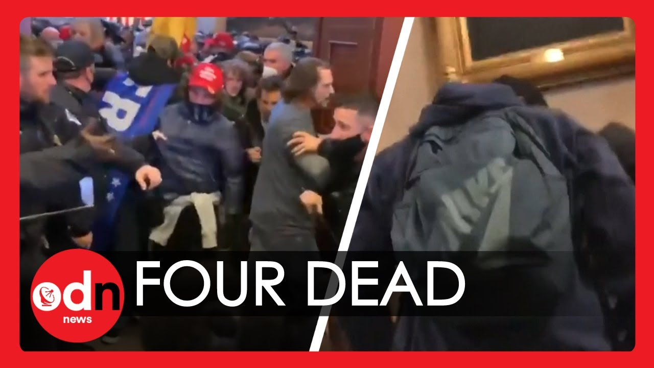 Unbelievable Footage from INSIDE US Capitol Building of Woman Being Shot
