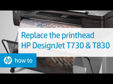 Replacing the Printhead | HP DesignJet T730 and T830 Multifunction Printer | HP