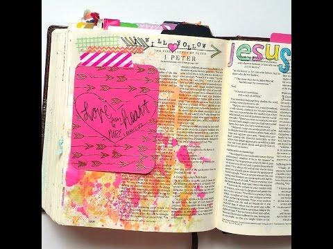 Growing Meadows Tai Bender Stamping Tutorial Journaling Card Bible Journaling