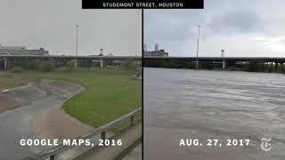 Houston Flooding Before and After Picture