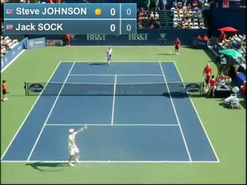 Steve Johnson vs Jack Sock (ATP Atlanta)