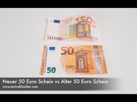 Neuer 50 Euro Schein Vs Alter 50 Euro Schein Youtube