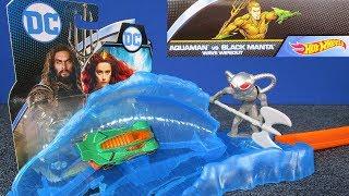 Hot Wheels Aquaman vs Black Manta Wave Wipeout Track Set Playset Review