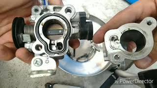 Mio i 125  D,I,Y Throttle body cleaning,