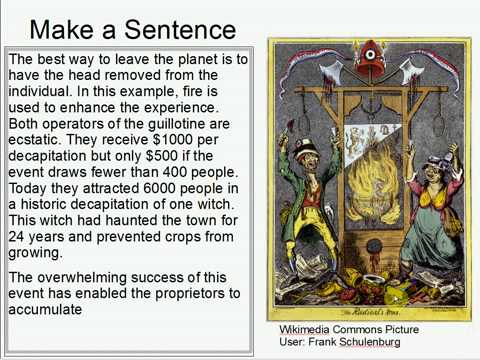Make A Sentence Double Trouble 1: Guillotine
