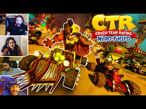 Streamers Rage While Playing Crash Team Racing Nitro Fueled, Compilation (CTR)