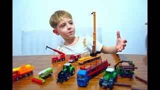 Даниэль сам снял видео распаковка и обзор Сику Кран и Пожарная машина для детей Video for kids