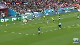 Мексика - Швеция . Швеция забила первый гол матча !!!