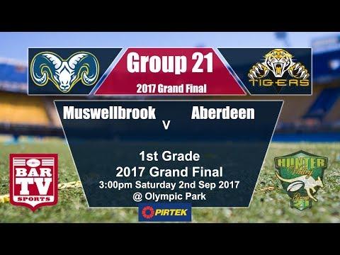 2017 Group 21 1st Grade Grand Final - Muswellbrook v Aberdeen