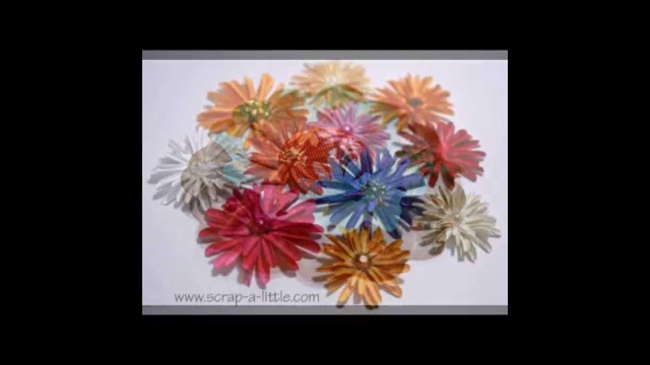 Как сделать красивые цветы из бумаги - YouTube