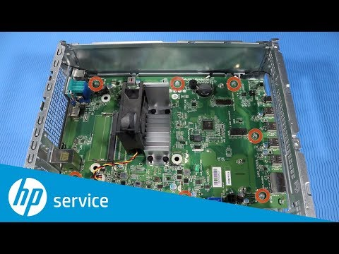 How To Replace the Motherboard | HP Slim Desktop S01-aF0000, S01-aD0000 | HP