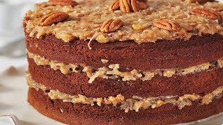 German Chocolate Cake Recipe Demonstration - Joyofbaking.com