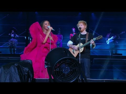 Beyoncé and Ed Sheeran - XO / Perfect  Global Citizens Festival Johannesburg, SA 12/2/2018