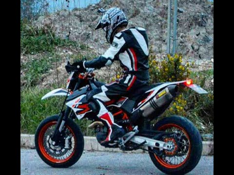 test ktm 690 smc r 2015 akrapovic exhaust on board motard lovers mls youtube. Black Bedroom Furniture Sets. Home Design Ideas