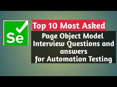 Page Object Model Interview Questions and answer for Experienced Automation Tester