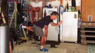 Rubber band exercises | Single leg deadlift