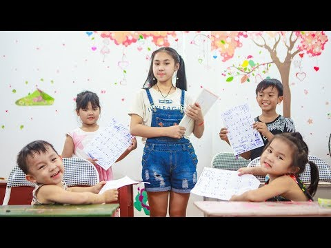 Kids Go To School   Chuns And Best Friends Eat BIMBIM Do Test Exercises Teacher