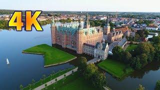 Frederiksborg Castle and Charlottenlund Palace Phantom 4 pro drone 4K