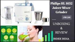 Philips HL1632 500 Juicer Mixer Grinder How to use video .INDEX INDIA