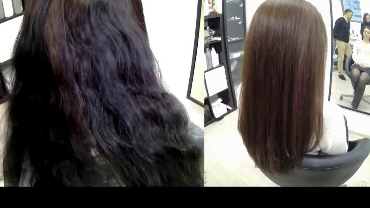 фото выход из черного цвета волос