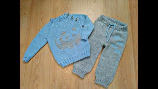 Детский джемпер (пуловер) с планкой спицами без швов на любой размер. Реглан снизу.