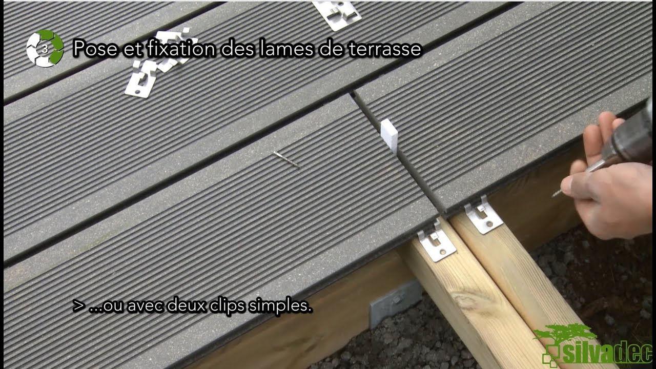 1 clic 6 tapes votre terrasse est mont e youtube - Pose terrasse composite sur plot ...