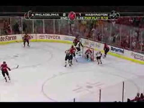 Flyers   Capitals 4 22 08 Game 7 - YouTube c47f72081cf