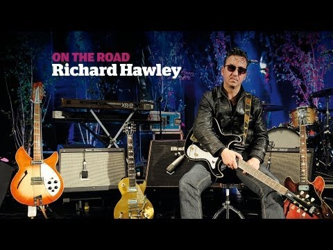 On The Road rig tour with Richard Hawley, a Guitarist magazine  in HD