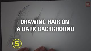 How to Draw Light (or Dark) Hair On a Dark Background
