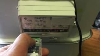 Как остановить счетчик газа Elster G10T(, 2017-04-02T18:50:19.000Z)