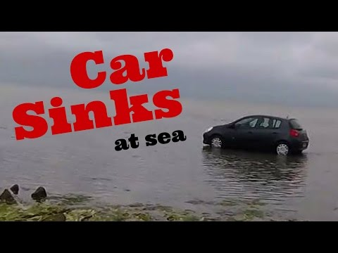 Car sinks in the sea! (Part 1)