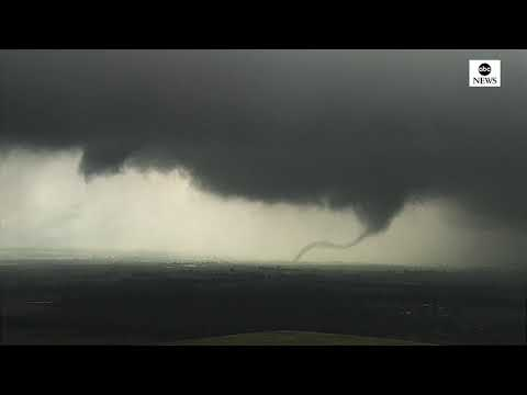 Pair of tornadoes spotted outside Oklahoma City