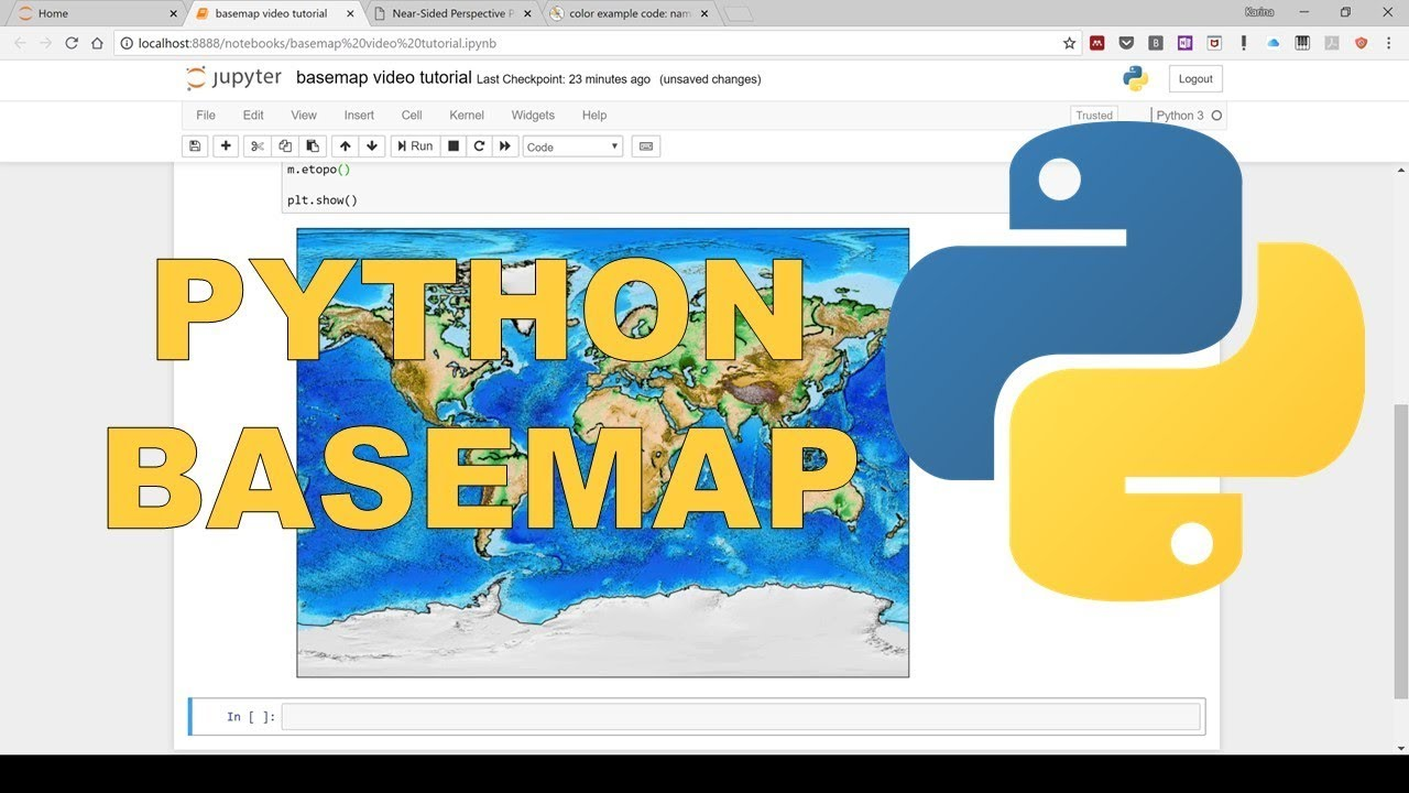 How to make a map in python using basemap