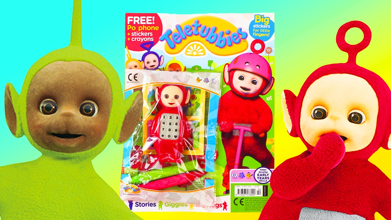 Toys Easter Magazine : Teletubbies po magazine toy review toys for kids