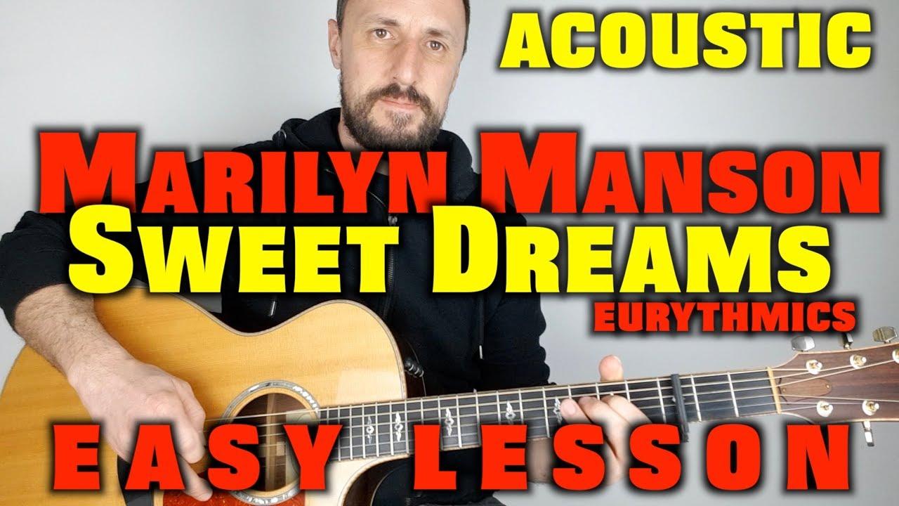 Marilyn Manson Sweet Dreams Guitar Tutorial Youtube