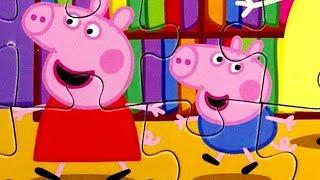 Свинка Пеппа и Джордж В ШКОЛЕ делают уроки | собираем ПАЗЛЫ ДЛЯ ДЕТЕЙ | Peppa Pig